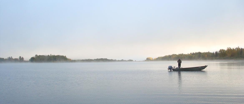 Dragon Lake early morning fog